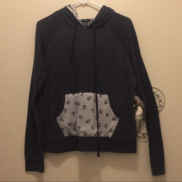 Rue21 Tops - Lightweight Anchor hoodie